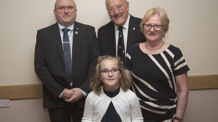 Amelia Hale with grandmother Jean Hale presented with a cheque of £1,000 for Little Discoverers, wit