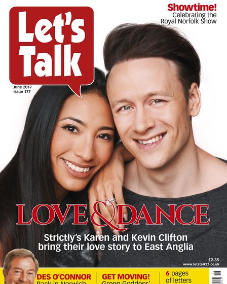 Strictly Come Dancing stars Karen and Kevin Clifton on the June edition of Let's Talk. Picture Archa