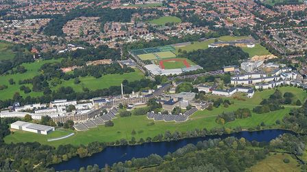 An aerial picture of the University of East Anglia. Picture: University of East Anglia