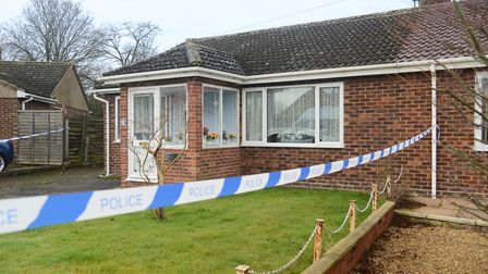 The scene of the murder at Boyd Avenue, Toftwood. Picture: Ian Burt