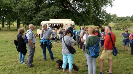 Walkers indulge in ice cream at last year's Walk with a Fork. Picture: ORMISTON FAMILIES