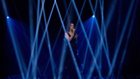 """Lucie Jones performing the UK's 2017 Eurovision entry, """"Never Give Up on You"""" on the Graham Norton S"""