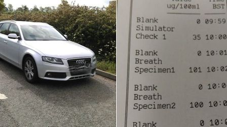 The Audi stopped doing 100mph on a stretch of the A47 where the limit is 50mph. Picture: Norfolk Con
