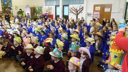 Children at Redcastle Family School in Thetford during Easter competitions. The school has been clos