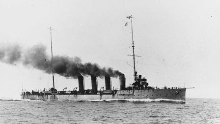 Raider: the light cruiser SMS Saida was the first into action during the early morning attack on the
