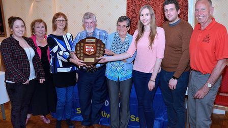 The winning team - Marilyn Cork, Philip and Debra Lowe, Rebecca and Dane Stannard and Louise Willimo