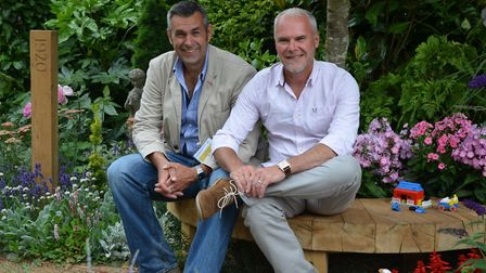 Adam Woolcott and Jonathan Smith, whose garden for World Horse Welfare is going on display at this y