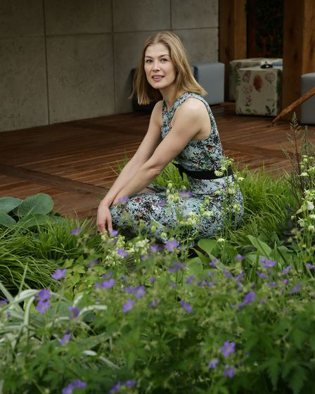Rosamund Pike at the Morgan Stanley Garden for Great Ormond Street Hospital, during a press day ahea
