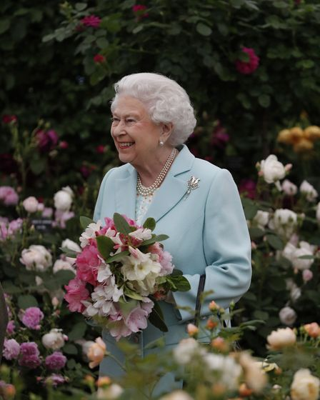 Queen Elizabeth II during a visit to the RHS Chelsea Flower Show, at the Royal Hospital Chelsea, Lon