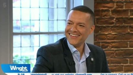 Clive Lewis, Labour MP for Norwich South, on The Wright Stuff. His wife, Katy Steel,was sat in the a