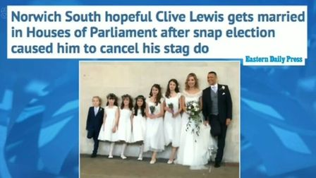 Clive Lewis, Labour MP for Norwich South, on The Wright Stuff. Picture: Channel 5