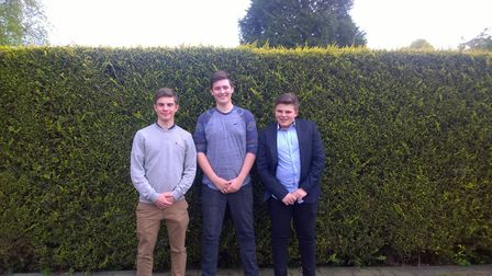 From left: William Penny Jjnr. Christopher Willis and Henry Whipp. Picture: Submitted
