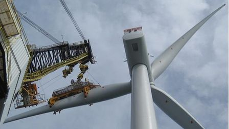 The first turbine installed as part of the Galloper wind farm project