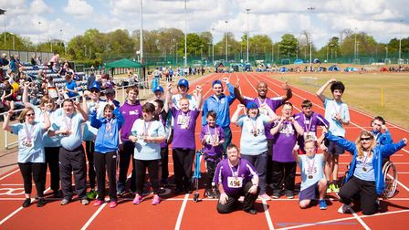 Special Olympic Norfolk and Suffolk athletes competing on Sunday at the Athletics Norfolk championsh