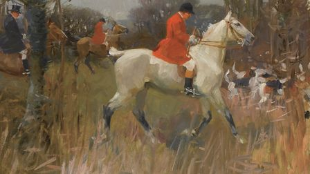 Picture, A Hunting Morn, painted by Sir Alfred Munnings. PIC: Submitted by Dick Barton.