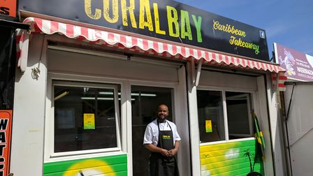 Conroy Robinson has opened a Carribean takeaway on Great Yarmouth Market. Photo: George Ryan