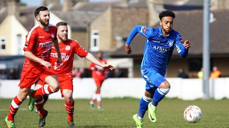 Nico Cotton shone during his loan spell from Southend United at Crown Meadow. Picture: Shirley D Whi
