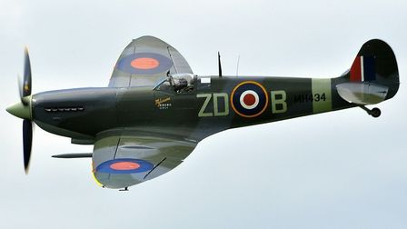 The Mark IX Spitfire MH434, heading to Old Buck. Picture submitted