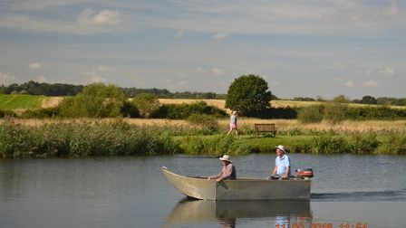 A boat on the canal with a walker: Picture: Julie Kelleher