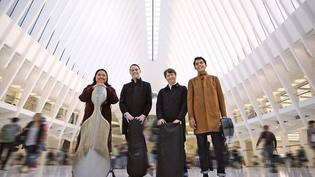 NNF17: Calidore Quartet, Folk Songs. Photo: Norfolk and Norwich Festival