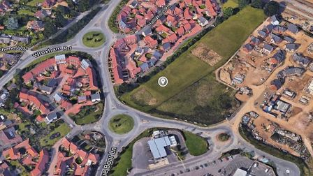 The skate park was proposed for an area of land off Blue Boar Lane. Photo: Google