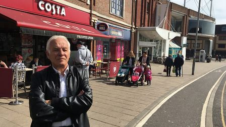 Norfolk County Councillor Mick Castle has raised the issue of Great Yarmouth's dangerous kerb. Pictu