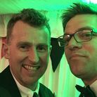 Nigel Owens was guest speaker at the Wymondham Rugby Club fundraising dinner. Pictured in a selfie