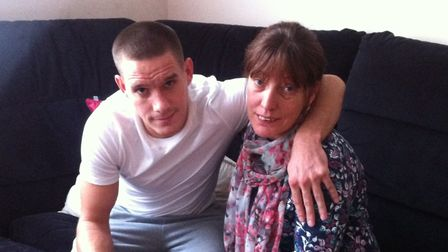 Boxer Liam Walsh with his number one fan - mum Michelle Walsh. Picture: SOPHIE WYLLIE