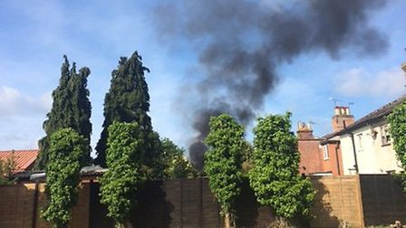 The fire in Southend Road, Bungay. Picture: Colin Squire