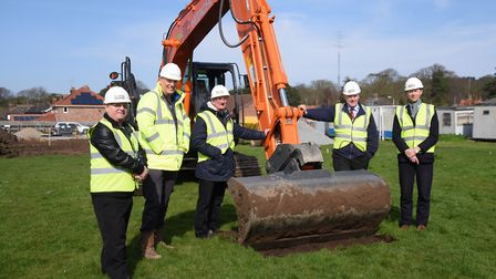 Work starts on the new medical centre at Cabbell Park, throwing the future of the football club in d