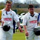 Ashley Watson, left, got a taste of captaincy in a five-wicket win over Lincolnshire at Manor Park l