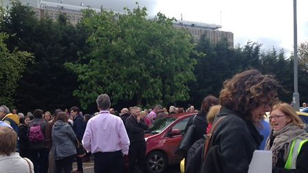 The evacuation at County Hall Picture: Contributed