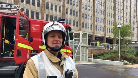 Richard Dromey, Norfolk Fire and Rescue's district manager for Norwich, at County Hall. Picture: Stu