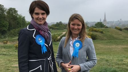 Chloe Smith (left) and Lana Hempsall, who are Conservative prospective parliamentary candidates for
