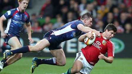 Ben Youngs in action for the British & Irish Lions during the tour of Australia in 2013. Picture: Da