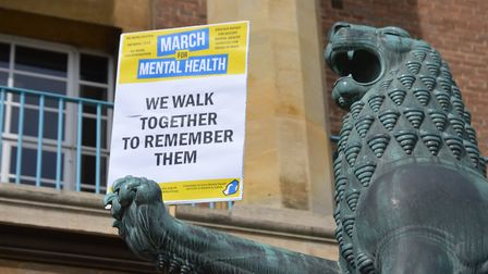 March for Mental Health. Picture: Ann Nicholls