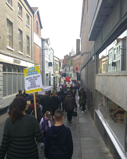 March for Mental Health, Norwich. Pictures: Andrew Day