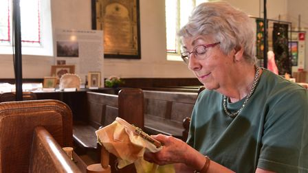 An exhibition of ancient and modern needlework and textiles is on display at St Mary's church, Bunga