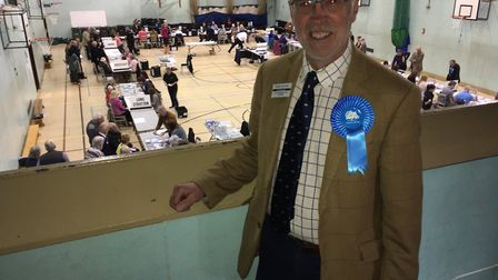 East Depwade county councillor Martin Depwade says the Conservative Party is confident as counting g