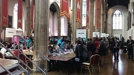 Counting of county council election ballots at St Andrew's Hall. Picture: GERALDINE SCOTT