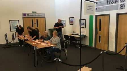Not just the county - counting begins for Hellesdon parish and Thorpe town councils. Photo: Dominic