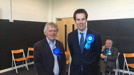 NORFOLK COUNTY COUNCIL Dereham winners Phillip Duigan and William Richmond looking pleased. Photo: A