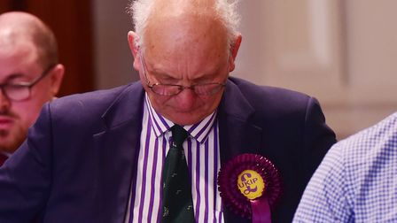 Count for Great Yarmouth area for the Norfolk County elections. UKIP, Stuart Agnew.