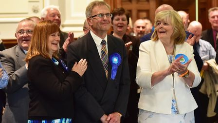 Count for Great Yarmouth area for the Norfolk County elections.Conservatives, Haydn Thirtle with Pen
