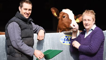 Former dairy farmers Ava Barrell and her son Tim. Picture: Ian Burt