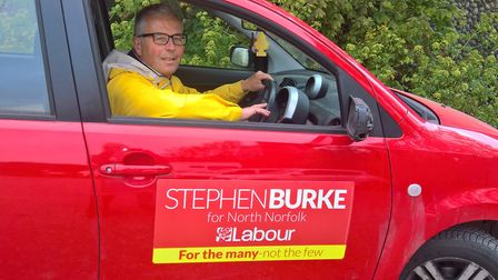 Labour�'s Parliamentary candidate Stephen Burke is hitting the roads of North Norfolk this month wit