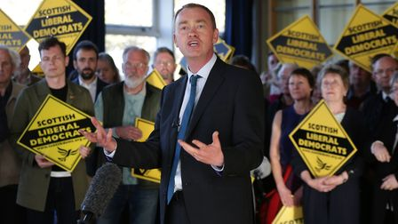 Liberal Democrats leader Tim Farron speaking during a rally of Lib Dem activists Yui Mok/PA Wire