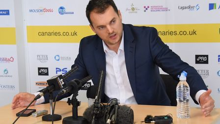 Sporting director Stuart Webber has his names in mind for Norwich City's head coach vacancy. Picture