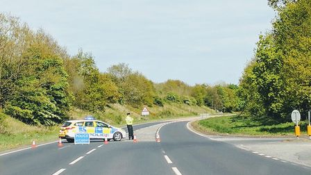 The crash on the A47 at Scarning on Friday, May 5. Picture: Kevin J Murphy @1969DalyBoy