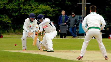 Sam Arthurton top scored for Norfolk on a hugely disappointing day. Picture: Tim Ferley